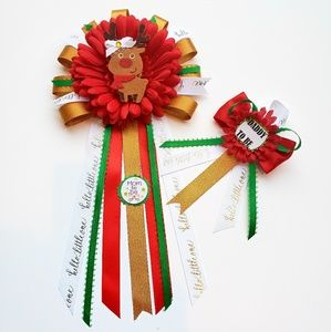 Other - Christmas theme baby shower corsage/mom to be pin
